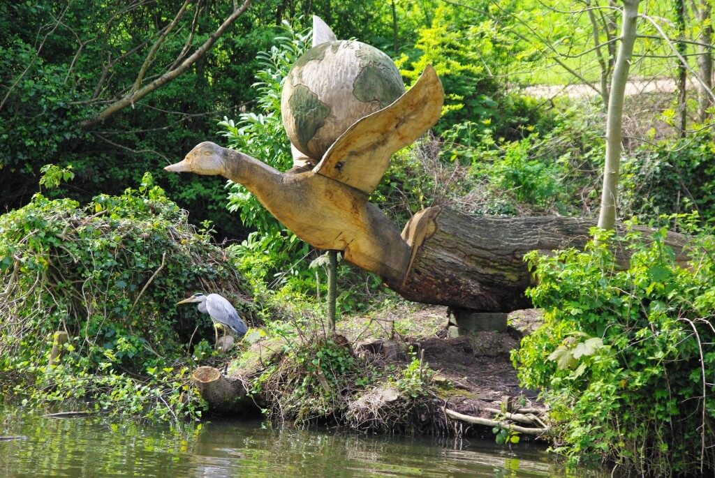 The Duck and the World Sculpture